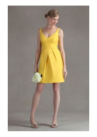 yellow short bridesmaid dress - image #586929 on Favim.com