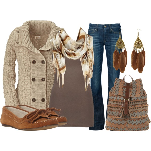 Girl Drawing Wallpaper For Iphone Polyvore Brown Outfit Image 569702 On Favim Com
