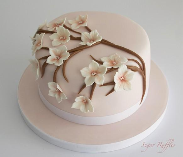 Fondant Torte Geburtstag Frau Cherry Blossoms Wedding - Cherry Blossom Birthday Cake