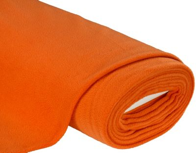 Fleece Stoff Günstig Fleecestoff Orange