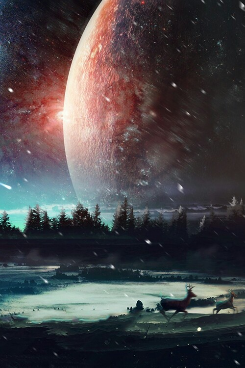 Dimensions Of A Wallpaper For Iphone X Amazing Art Earth Forest Galaxy Magic Moon Nature