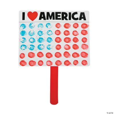 USA Flag Quick Halloween Crafts For Toddlers