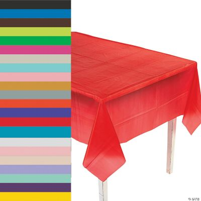Kunststoff Tischdecke Rectangle Plastic Tablecloth | Oriental Trading