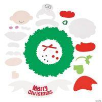 Santa & Mrs. Claus Wreath Craft Kit, Decoration Crafts ...