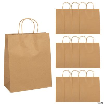 Paper Gift Bags Wholesale Large Brown Kraft Paper Gift Bags Oriental Trading