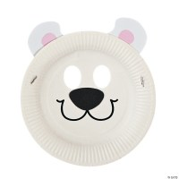 Paper Plate Polar Bear Mask Craft Kit - Discontinued