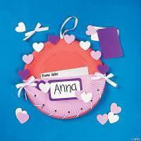 Paper Plate Valentine Holder Craft Kit - Oriental Trading ...