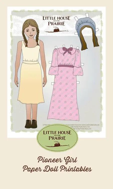 Pioneer Girl and Pioneer Boy Paper Doll Printables