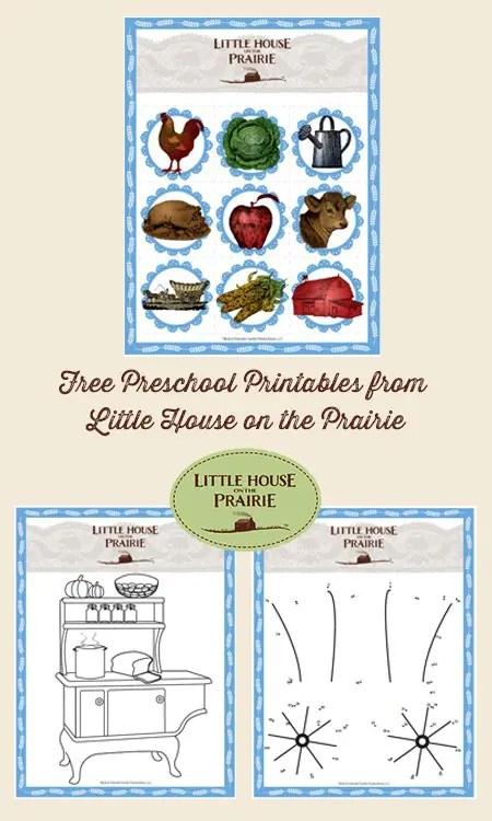 Free Little House on the Prairie Preschool Printables