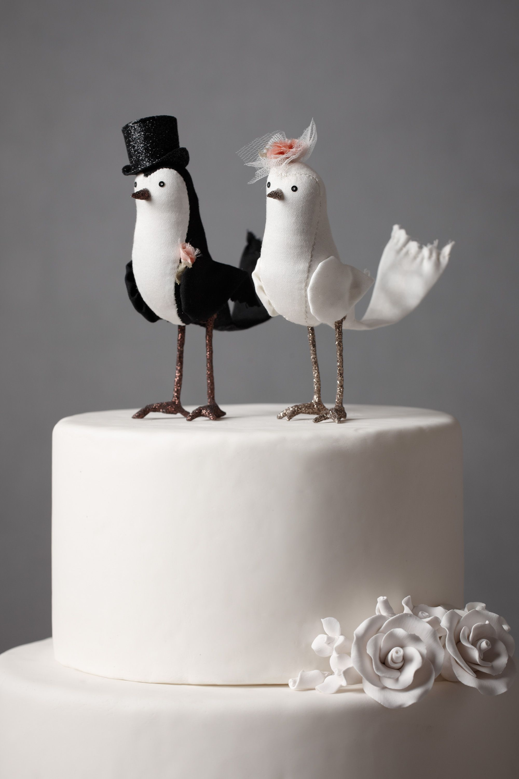 perfect pair cake topper wedding cake topper Black White Perfect Pair Cake Topper BHLDN