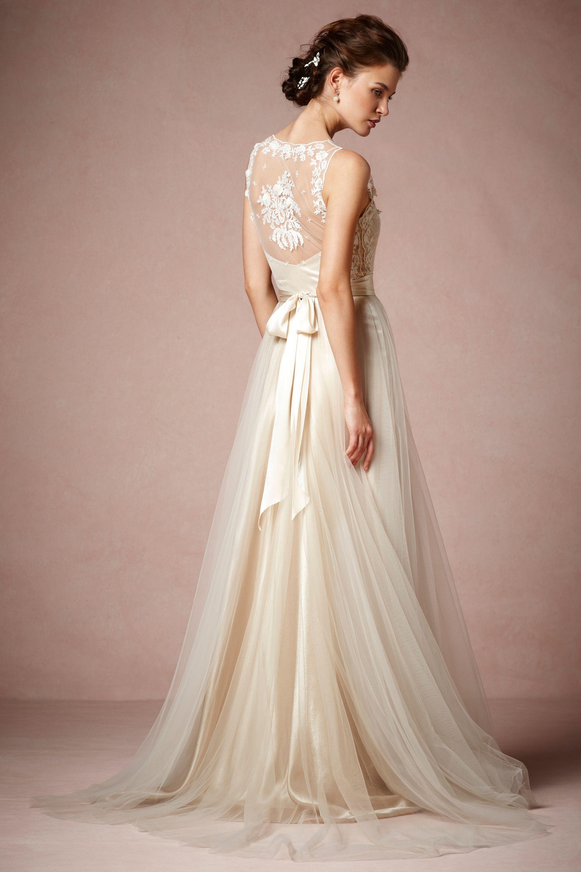 onyx gown wedding dress sale Catherine Deane champagne Onyx Gown BHLDN