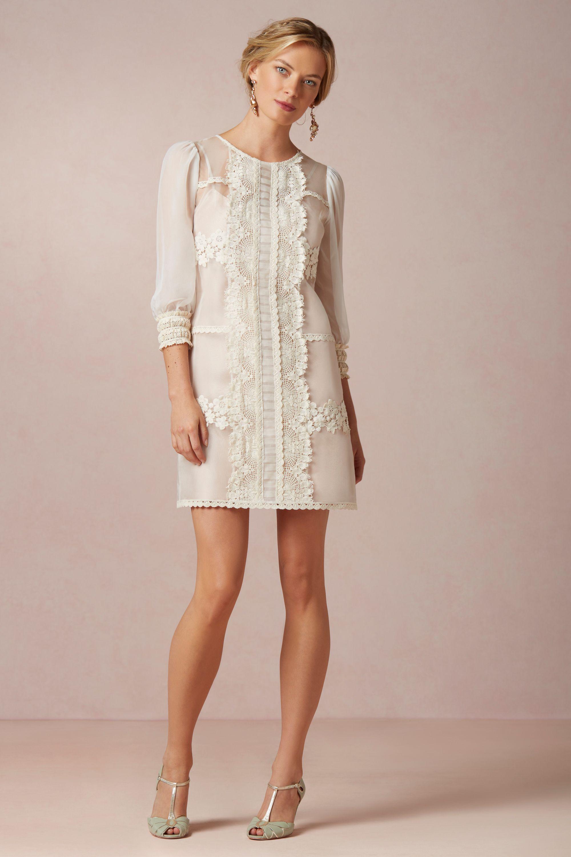vesper dress courthouse wedding dresses ivory Vesper Dress BHLDN