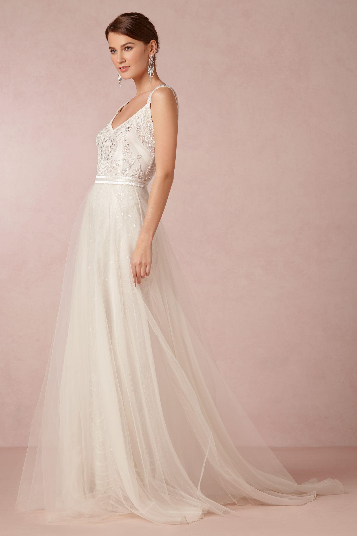 elsa tulle skirt tulle wedding dress snow Elsa Tulle Skirt BHLDN
