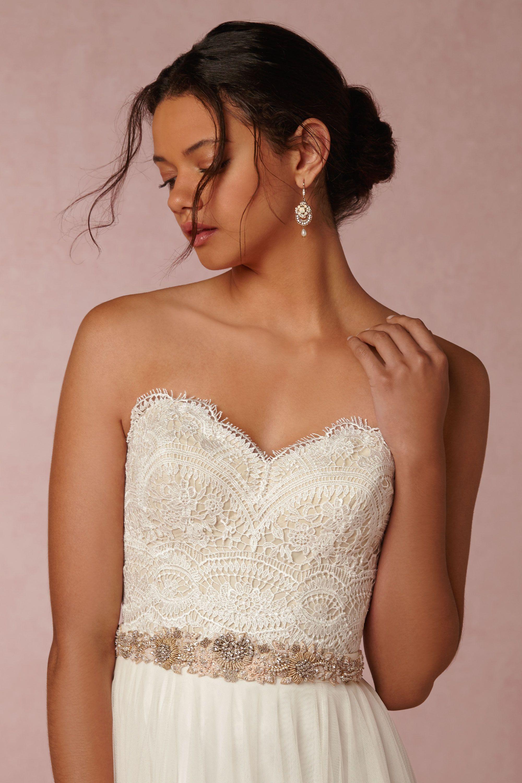 kinsey corset top wedding dress corset top Creme Kinsey Corset Top BHLDN