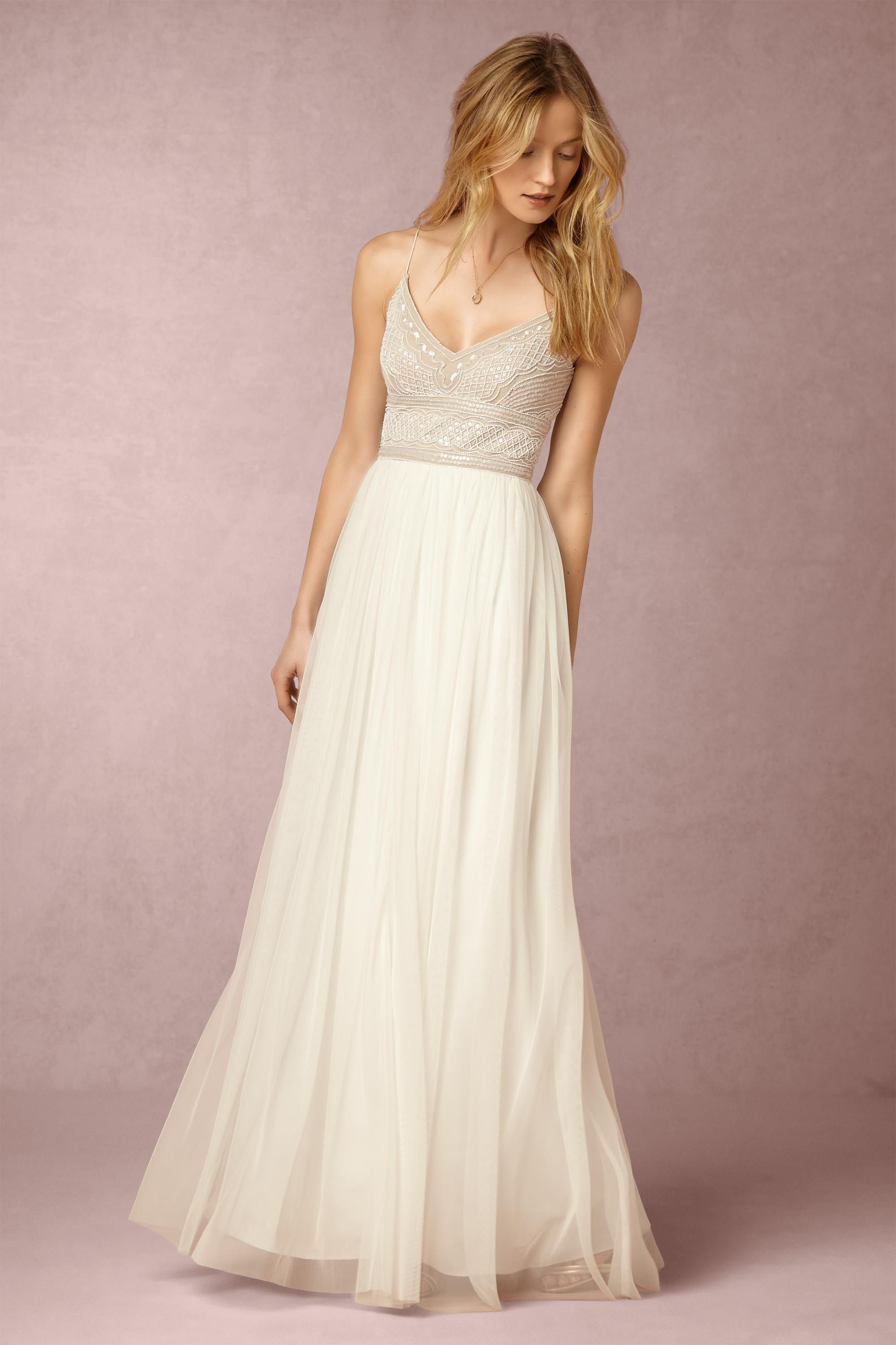 naya dress reception wedding dresses Adrianna Papell Ivory Nude Naya Dress BHLDN