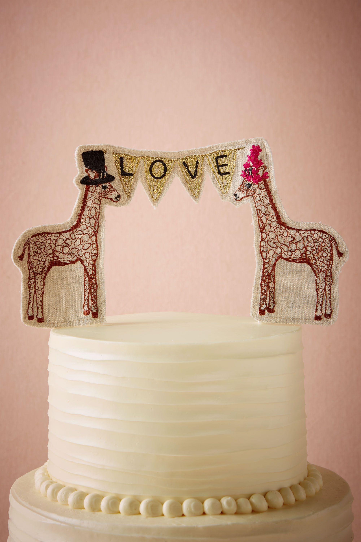 lovesome giraffes cake topper wedding cake topper Neutral Lovesome Giraffes Cake Topper BHLDN