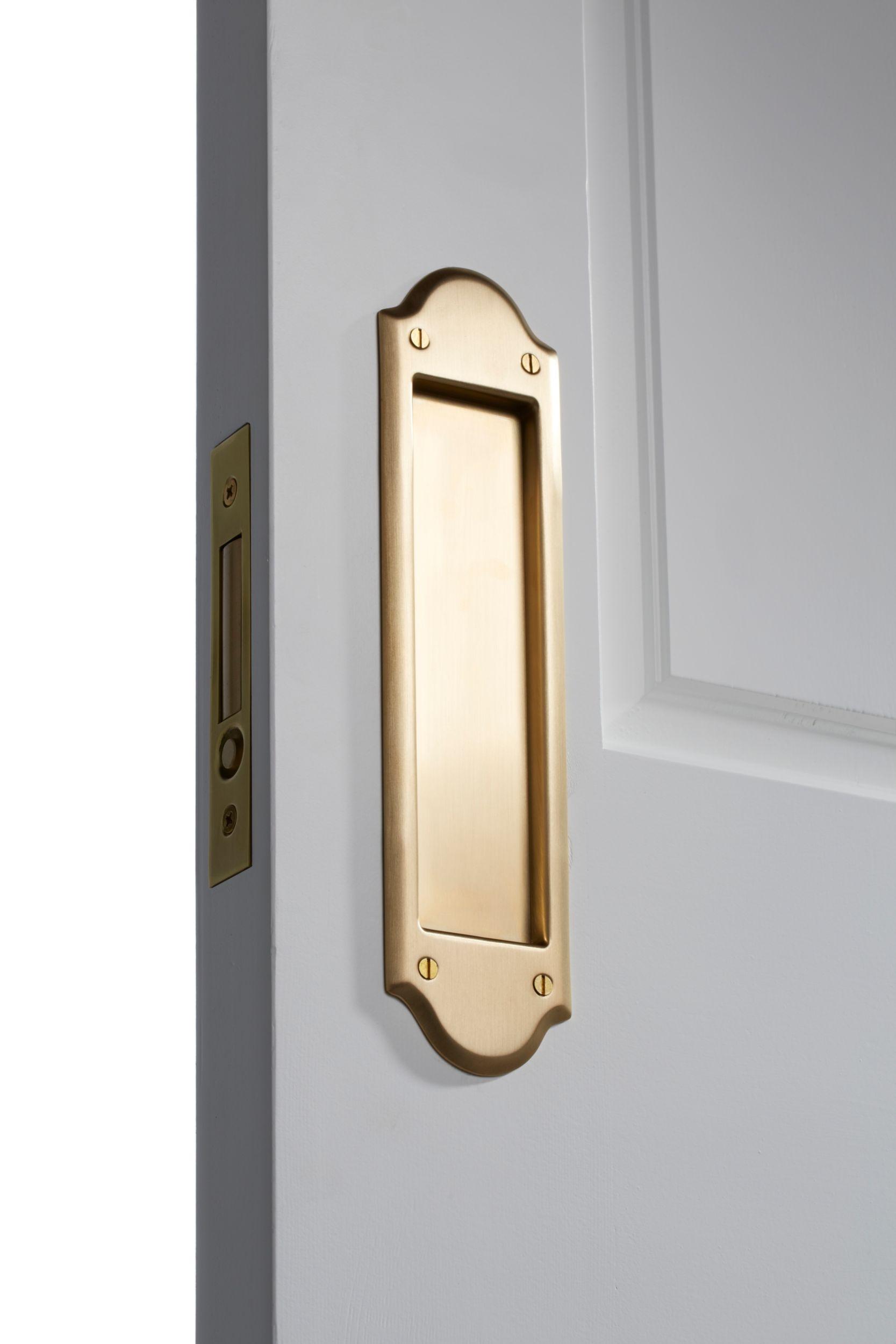 sliding pocket door lock