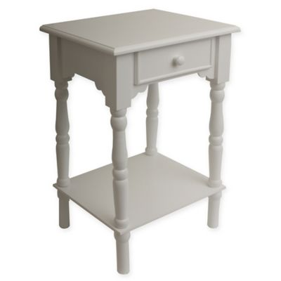 Decor Therapy Simplify Accent Table In White Bed Bath