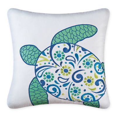 Imperial Coast Sea Turtle 18 Inch Square Throw Pillow