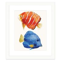 Buy Tropical Fish I Framed Watercolor Print Wall Art from ...