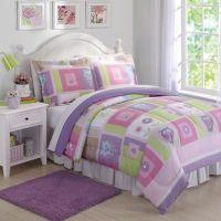 Happy Owls Comforter Set in Pink/Purple - Bed Bath & Beyond