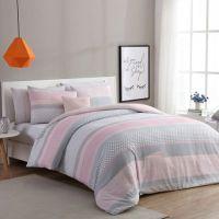 VCNY Home Stockholm Comforter Set in Pink/Grey