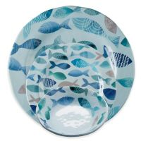 tag Fish Melamine Dinnerware Collection in Blue - Bed Bath ...