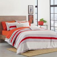 Buy Lacoste Sirocco King Comforter Set in Red from Bed