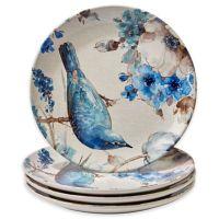 Certified International Indigold Bird Dinner Plates (Set ...