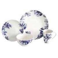 Buy Baum Botanical 16-Piece Dinnerware Set in Blue/Ivory ...