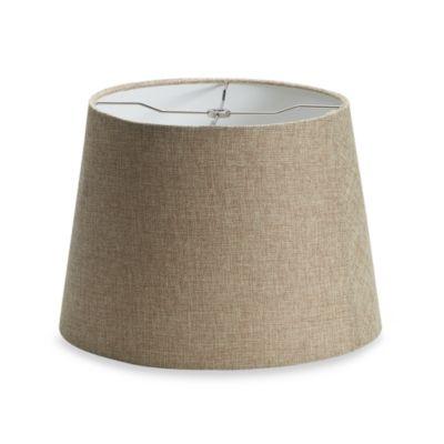 Mix Match Medium 14 Inch Linen Drum Lamp Shade In Tan