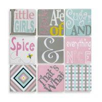 9-Piece Sugar & Spice Canvas Wall Art - buybuy BABY