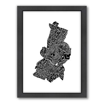 Buy Americanflat Austin Typography Map Digital Print Wall