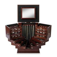 Lori Greiner Deluxe Wood Jewelry Organizer in Walnut ...