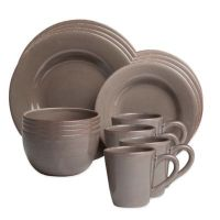 Sonoma 16-Piece Dinnerware Set in Grey - Bed Bath & Beyond