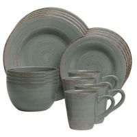 Sonoma 16-Piece Dinnerware Set in Slate Blue - Bed Bath ...