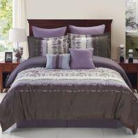Hudson Reversible Comforter Set in Purple/Grey - Bed Bath ...