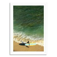Hawaii, Oahu, Honolulu, Waikiki Beach Photographic Canvas ...