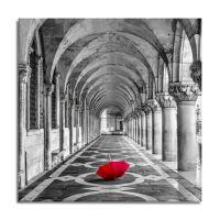 Red Umbrella Canvas Wall Art - Bed Bath & Beyond