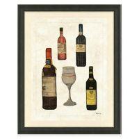 Buy Framed Gicle Wine Bottles I Print Wall Art from Bed ...