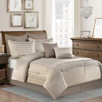 Dansville 8-Piece Comforter Set in Taupe - Bed Bath & Beyond