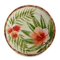 Hibiscus Palm Dinner Plate - Bed Bath & Beyond