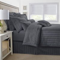 500-Thread-Count Damask Stripe Reversible Comforter Set ...