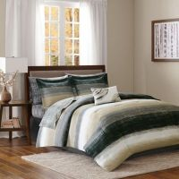 Madison Park Essentials Saben Comforter Set in Taupe/Black ...