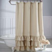 Ruffled Shower Curtain Bed Bath And Beyond | Curtain ...