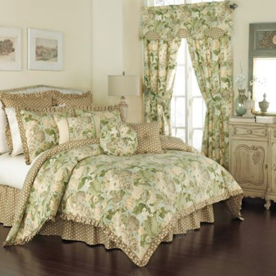 Waverly Garden Glory Reversible Comforter Set in Mist