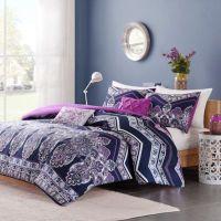 Intelligent Design Adley Comforter Set in Purple - Bed ...
