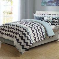 Paint Chevron Stripe Reversible Comforter Set - Bed Bath ...