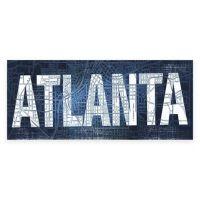 """Atlanta"" Blueprint Gicle Canvas Wall Art - Bed Bath & Beyond"
