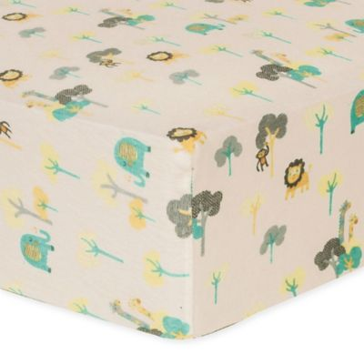 Trend Labr Lullaby Jungle Flannel Fitted Crib Sheet